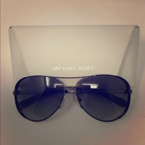 MICHAEL KORS Black and Silver sunglasses